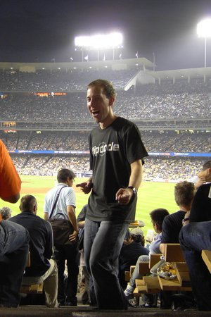 SIGGRAPH 2008 reception at the Dodgers stadium, Los Angeles, US